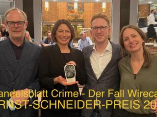 """Ernst-Schneider Preis 2021 für """"Handelsblatt Crime – Der Fall Wirecard"""""""